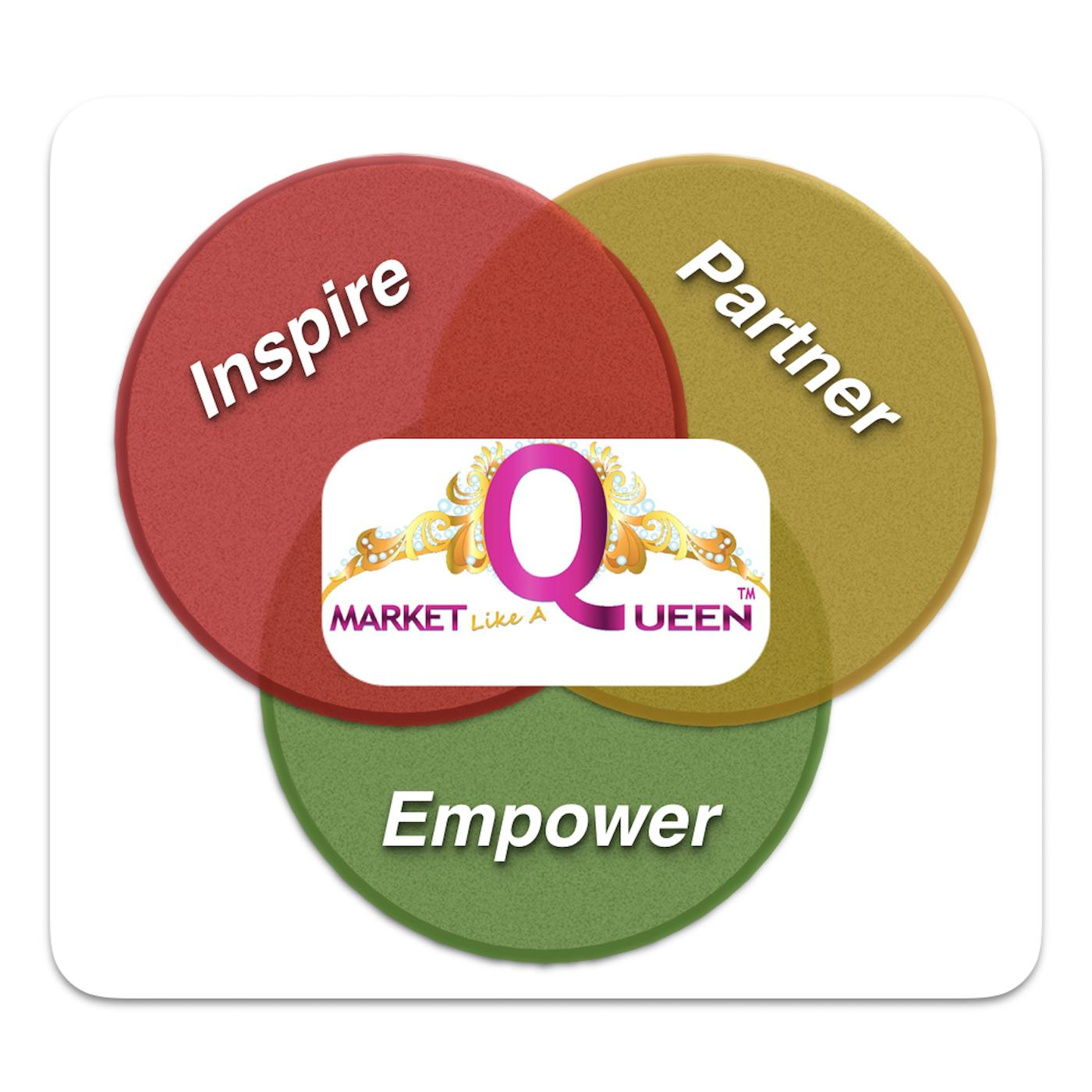 We Inspire. Empower. Partner With Leaders So You Can #MarketLikeAQueen