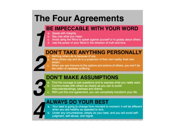 The Four Agreements Revisited 0409 By Vee And Friends Books Podcasts