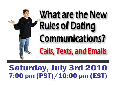 Singles Dating Tips  When to Call  Text or Email